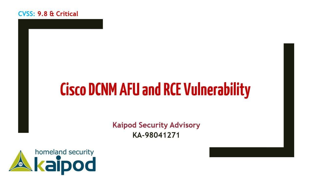 آسیبپذیری رابط مدیریت مبتنی بر وب مدیر شبکه مرکز داده سیسکو (DCNM)
